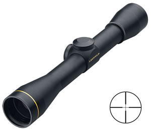 Leupold FX-II Fixed Power Rifle Scope 58530, 4x, 33mm Obj, 1 in Tube Dia, Gloss, Duplex Reticle