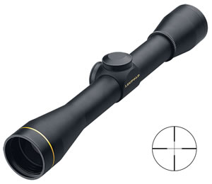 Leupold FX-II Fixed Power Rifle Scope 58550, 4x, 33mm Obj, 1 in Tube Dia, Matte, Wide Duplex Reticle