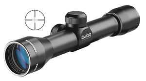 Simmons Prohunter Handgun Scope 807738, 4x, 32mm Obj, 1 in Tube Dia, Matte, Truplex Reticle