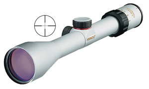 Simmons Prosport Rifle Scope 510480, 3x-9x, 40mm Obj, 1 in Tube Dia, Silver, Truplex Reticle