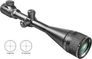 Barska Excavator Rifle Scope AC10558, 8x-32x, 50mm Obj, 1 in Tube Dia, Matte Black, Illuminated Target Dot Reticle
