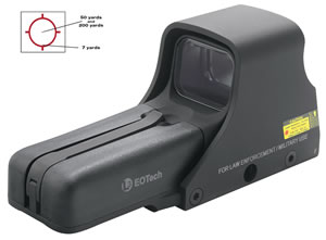 Eotech 512A65 Holographic Weapon Sight -  1 M.O.A Dot, Black