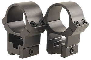 B-Square Sports Utility Series Rings 27056, 1 in, High, 1 in, Black