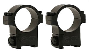 CZ Scope Rings 19001, CZ 452/453/455, 11mm Dovetail, 1 in, Blue Steel