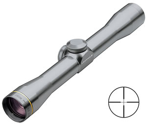 Leupold FX-II Fixed Power Rifle Scope 62230, 2.5x, 28mm Obj, 1 in Tube Dia, Gray, Duplex Reticle