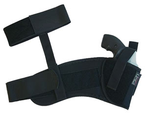 Uncle Mikes Ankle Holster For 3 in -4 in Barrel Med Autos, Model 88211