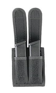 Uncle Mikes Black Double Magazine Pouch w/Velcro Closure, Model 88291, For Glock 10mm / 45 MAG / HK 45 MAG