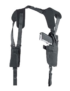 Uncle Mikes Pro-Pak Vertical Shoulder Holster System, Model 75021, For 4 in Barrel Med/Intermed Double