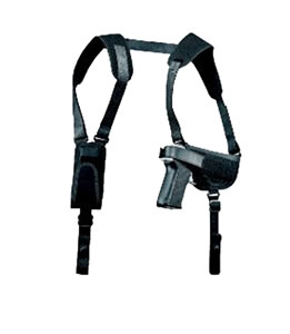 Uncle Mikes Pro-Pak Horizontal Shoulder Holster System, Model 77360, For 2 in Small Frame 5 Shotg Revolver w/Hammer Spur