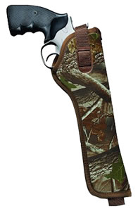 Uncle Mikes Hip Holster Fits 5 in -6.5 in Barrel Double Action Revolvers, Right Hand, Camo, Model 80036