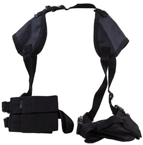 Bulldog Shoulder Holster WSHD8, Black, For Beretta, Browning, Colt, CZ, For Glock, Ruger, S&W