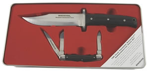 Winchester 6956 Teddy Roosevelt Knife Set Steel Multiple Blades/Drop Point