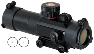 TruGlo TG8030TB Tactical Dual Color Scope 3 MOA Red/Green Center Dot/Lens Caps/Sunshade