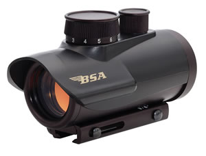 BSA Red Dot Scope RD30, 1x, 30mm, Black, 5 M.O.A.