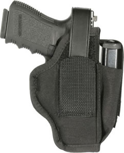 Blackhawk 40AM06BK Ambidextrous Holster w/Pouch, Fits Belts up to 1.75 in , Size 6, Black, 3 1/4 in -3.75 in Barrel Medium and Large Autos