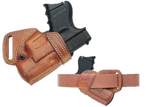 Galco SOB218 S.O.B. Small Of The Back Holster For 1911 Style Auto w/3.5 in Barrel, Tan