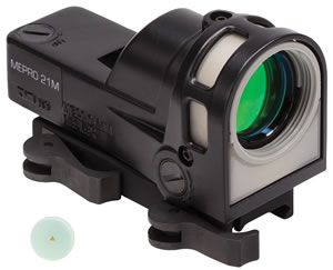 Meprolight M21T M-21 Red Dot Reflex Sight, 12 MOA Triangle