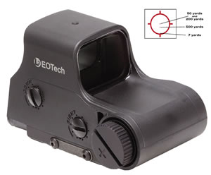 Eotech Holographic Weapon Sight XPS22, 65mm, Black, 2 MOA Dot