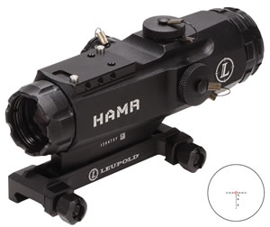 Leupold Mark 4 HAMR Rifle Scope 110995, 4x, 24mm Obj, 1 in Tube Dia, Mt Black, Illum CM-R Reticle, w/$50 Coupon For Future Order