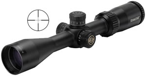 Simmons Pro Target Rifle Scope 533124, 3x-12x, 40 mm Obj, 1 in Tube Dia, Mt Black, Truplex Reticle