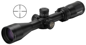 Simmons Pro Target Rifle Scope 533940, 3x-9x, 40 mm Obj, 1 in Tube Dia, Mt Black, Truplex Reticle