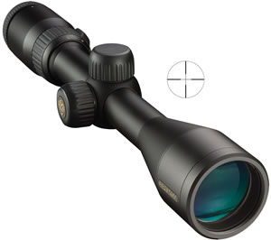 Nikon ProStaff Rifle Scope 6721, 3-9x, 40 mm Obj, 1 in Tube Dia, Mt Black, PLX Reticle