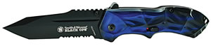 Smith & Wesson SWBLOP3TBLS Blackops Knife, Tanto, Blue, Serrated