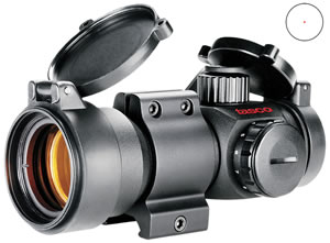 Tasco Pro Point Rifle Scope PDTS132, 1x, 32mm Obj, 30mm Tube Dia, Mt, Illum 5 M.O.A Red Dot Reticle
