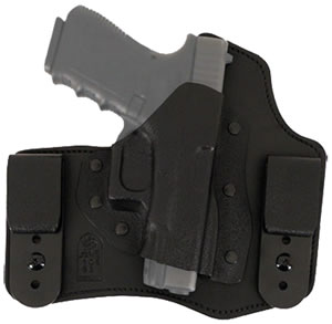 Desantis 105KAV5Z0, Intruder Right Hand Inside-The-Pants Holster, Black Leather Smooth