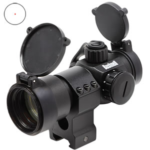 Bushnell AR731305 TRS-32 AR Red Dot Scope, 1x32mm Objective, Unlimited Eye Relief, Flip Covers, 5 MOA, Black Finish