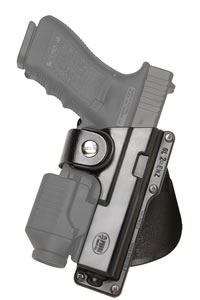 Fobus Tactical Speed Paddle Holster GLT17, For Glock Models 17, 22, 31 with Tactical Light or Laser