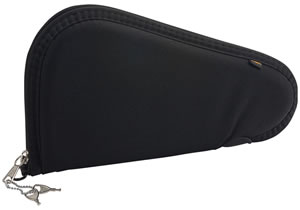 Allen Black Handgun Case w/Lock 746, 6 in