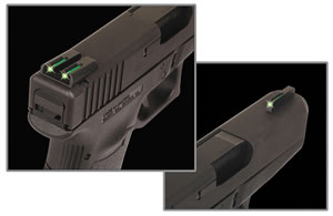 TruGlo TG131ST1 Tritium Fiber Optic Sight For Sig, #8 Front/#8 Rear