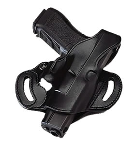Galco CSL212B Cop 3-Slot Belt Holster w/Open Muzzle For 1911 Style Autos w/5 in Barrels
