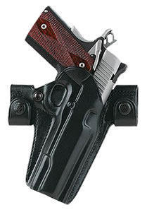 "Galco SSS226B, Side Snap Scabbard 226B For Glock 19/23/32/36 Belt Holster, Belts up to 1.5"", Black Leather Smooth"