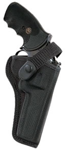 Bianchi AccuMold High Ride Sporting Holster w/Closed Muzzle, Model 17700, For Browning Buckmark; Ruger MK I, MK II Target; S&W 422. 5 1/2 in BBL .22 AutoMatic
