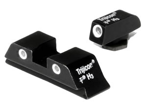 Trijicon Tritium GL01 3 Dot Front & Rear Night Sight Set For Glock