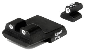 Trijicon Tritium SA08 Novak Fixed Sight Night Sight For Smith & Wesson 3rd Generation