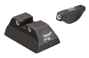 Trijicon Tritium RA06 3 Dot Night Sight Set For Ruger P90/P91/P93/P95/P97