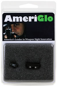 Ameriglo GL121 Green Front/Yellow Rear Classic Tritium Night Sight For Glock 45/10mm Caliber