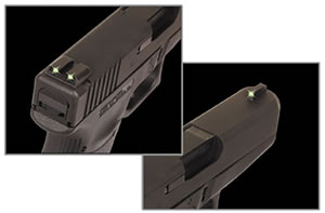 TruGlo TG231G2 Tritium Pistol Night Sight For Glock 10MM/45 Caliber