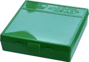 MTM P100910 100 Round 9MM/380 Green Pistol Ammo Box