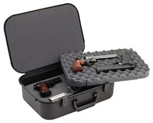 Doskosport/Plano Black Four Pistol Case w/Key-Lock Latches 10089