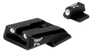Trijicon Tritium SA37 3 Dot Green Front/Rear Sight For Smith/Wesson Military Po