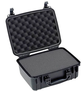 Seahorse SE520F Black Waterproof Handgun Hard Case, 15x12x7