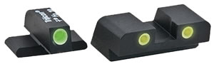 Ameriglo Night Sights Classic XD193, Tritium/Steel, Green Front/Yellow Rear, Springfield XD