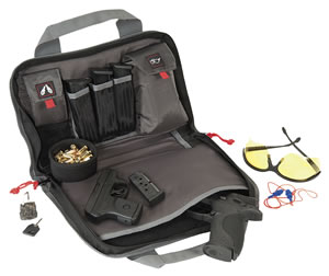 G Outdoors 1308PC Double Pistol Case, Black