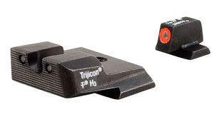 Trijicon SA1370 HD Tritium Night Sight Set, S&W MP, Orange