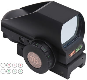 TruGlo TG8380B Tri Brite Open Red Dot Sight, Mt