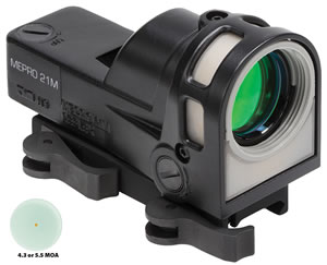 Meprolight M21D5 Reflex Sight 5.5 Minute Of Angle w/Quick Release Flattop Adapter